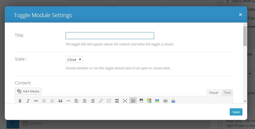 divi toggles module settings
